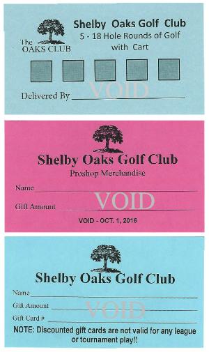Oaks Gift Cards